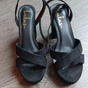 LULU'S black heels